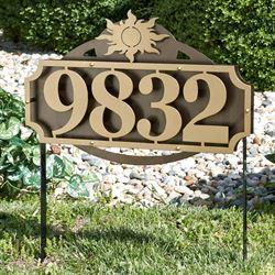 La Casa Sun Address Yard Sign Gold/Bronze