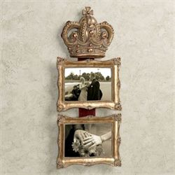 Royal Crown Wall Photo Frame Aged Gold