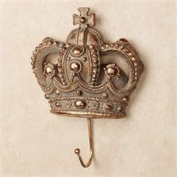 Sovereign Crown Wall Hook Aged Gold