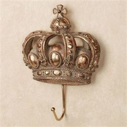 Crown of Monarchy Wall Hook Aged Gold