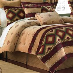 Veracruz Southwest 4 pc Comforter Set Camel