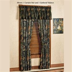 Mossy Oak New Break Up Tailored Curtain Pair Black 84 x 84