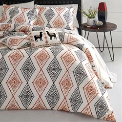 Cusco Rhombus Comforter Bed Set Light Almond
