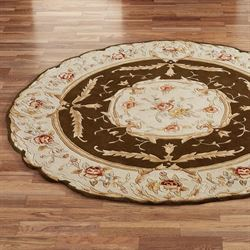 Rose Aubusson Sculpted Round Rug