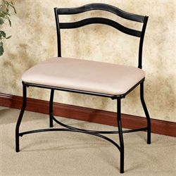 Amoret Vanity Chair Burnished Bronze