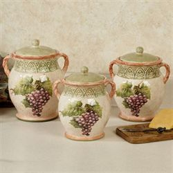 Sanctuary Wine Kitchen Canisters Multi Earth Set of Three