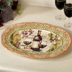 Sanctuary Wine Oval Serving Platter Multi Earth