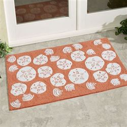 Shell Toss Accent Rug Coral