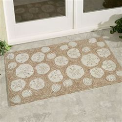 Shell Toss Accent Rug Natural