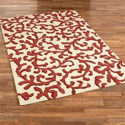 Coral Lagoon Rectangle Rug Ivory