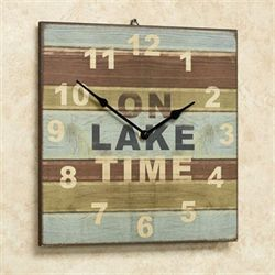 On Lake Time Wall Clock Multi Cool
