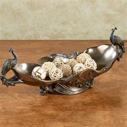 Edeline Peacock Centerpiece Bowl Bronze