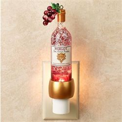 Wine Bottle Shimmer Nightlight Plum