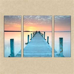 Infinity Triptych Indoor Outdoor Canvases Multi Cool Set of Three