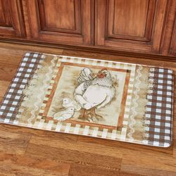 Plaid Hen Cushioned Mat Multi Warm 36 x 23