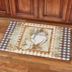 Plaid Hen Cushioned Mat Multi Warm 36 x 23