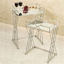Gienna Silver Accent Table Set Set of Two