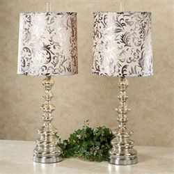 Ryleigh Table Lamp Pair Platinum