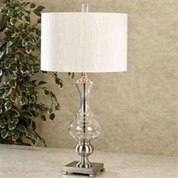 Steel Storm Table Lamp Clear