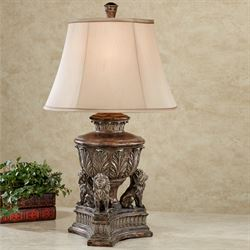 Kings Palace Lion Table Lamp Bronze