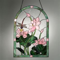 Dragonfly Stained Glass Panel