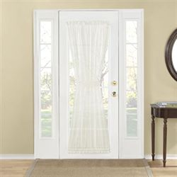Splendor Semi Sheer Door Panel Pearl