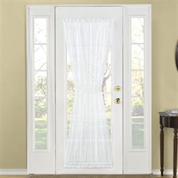 Splendor Semi Sheer Door Panel White