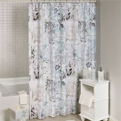 Veneto Shower Curtain White 72 x 72