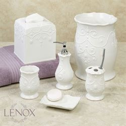 Lenox French Perle Lotion Soap Dispenser White