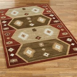 Unbound Horizon Rectangle Rug Multi Warm