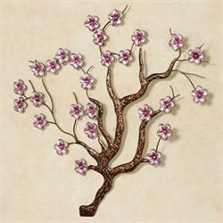 Shimmering Blossoms Wall Art Pink