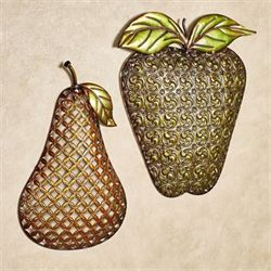 Fruit of the Season Wall Art Multi Earth Set of Two