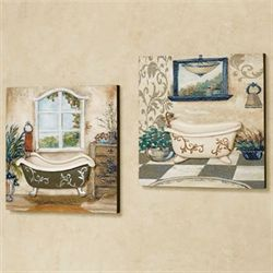 Salle de Bain Wall Art Taupe Set of Two