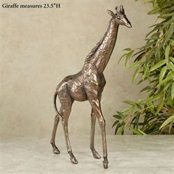 Gleaming Giraffe Sculpture Light Bronze