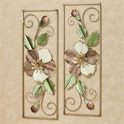 Southern Charm Wall Art Satin Gold Set of Two