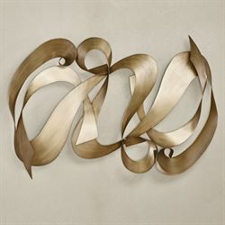 Reverence Wall Sculpture Satin Gold