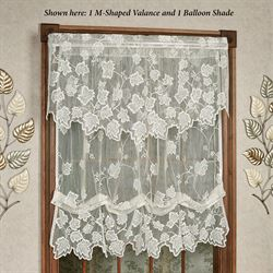 Dancing Leaves Lace Balloon Shade Ivory 60 x 63
