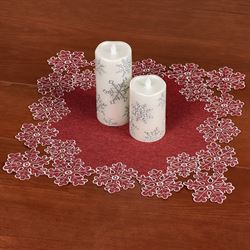 Snowflake Small Table Topper Red 20 Square