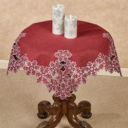 Snowflake Table Topper Red 36 Square