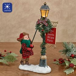 Lamp Lighter Accessory Figurine Red