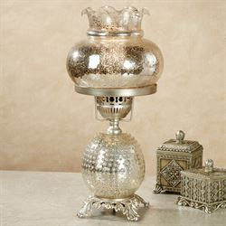 Amory Hobnail Table Lamp Platinum Each with LED Bulb