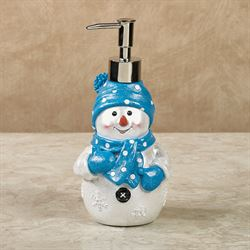 Chilly Snowman Lotion Soap Dispenser Blue