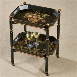Noble Bounty Serving Cart Black