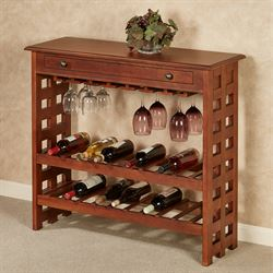 Colborn Wine Rack Table Regal Walnut