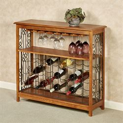Jerrick Wine Rack Table Windsor Oak