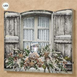 Wintery Evening LED Canvas Wall Art Multi Cool