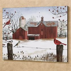 Winter Friends Canvas Wall Art Multi Warm