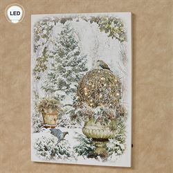 Winter Garden LED Canvas Wall Art Multi Cool