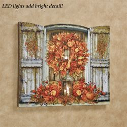 Harvest Welcome LED Canvas Wall Art Multi Warm