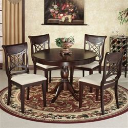 Carwyn Dining Set Rich Mahogany Set of Five
